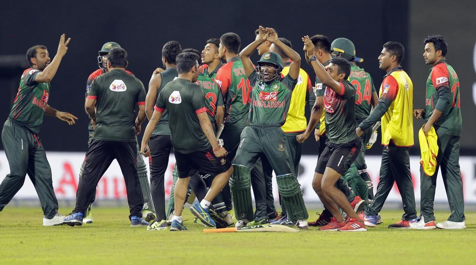 Bangladesh's team members had performed the 'nagin' dance after their win over Sri Lanka in the last league game of the Nidahas Trophy, which had seen them book a place in Sunday's final against India in Colombo.