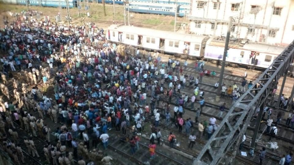 Train services resumes after students end protest