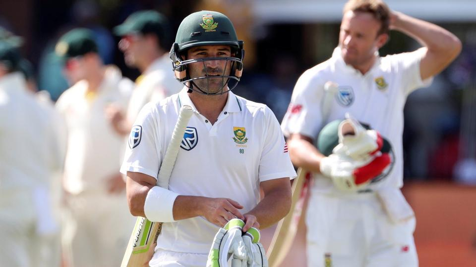 Dean Elgar has struggled against Nathan Lyon in the ongoing Test series between South Africa and Australia.