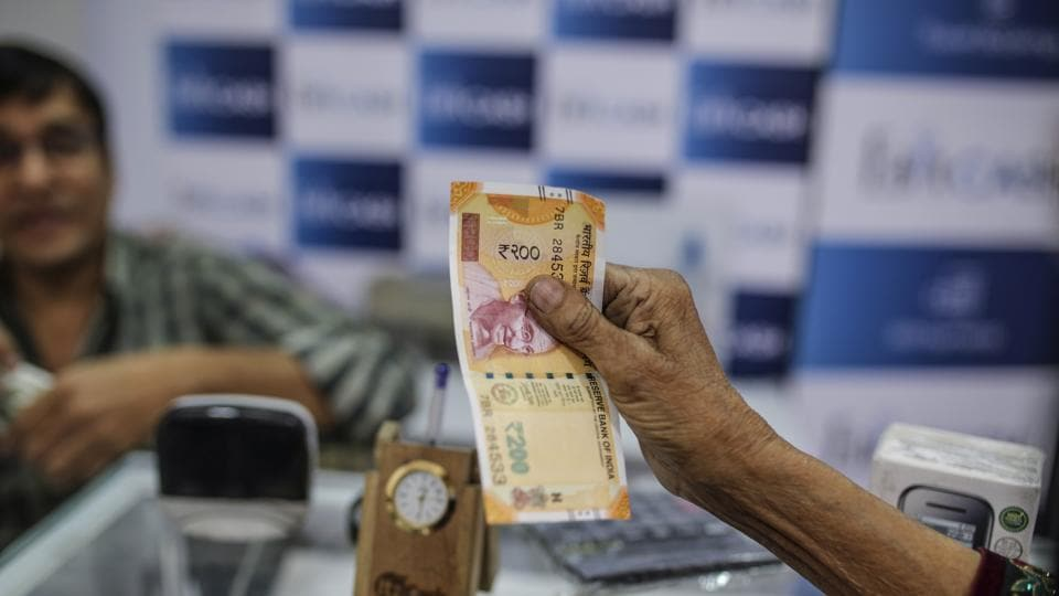On Monday, the rupee slipped 23 paise to close at 65.17 against the dollar due to concerns over a widening current account deficit.