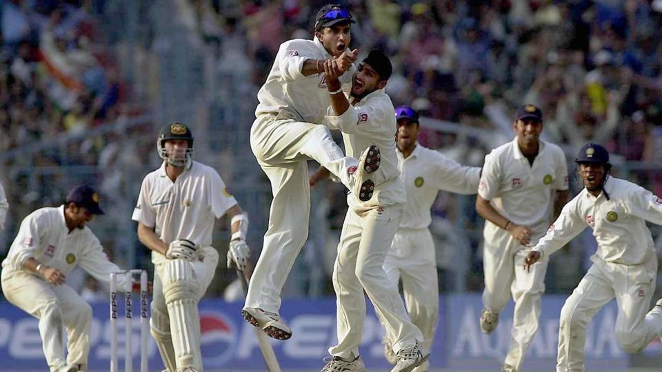 Sourav Ganguly,VVS Laxman,Harbhajan Singh