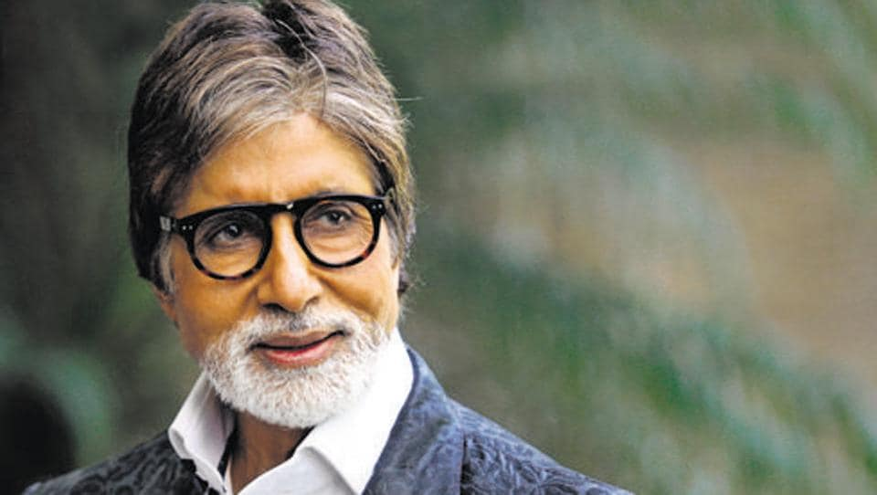 Bollywood actor Amitabh Bachchan at a promotional event in Delhi.