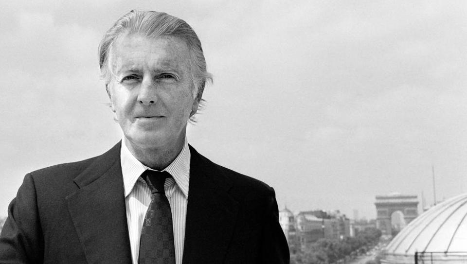 In this file photo taken on July 27, 1978 French aristocrat and fashion designer Hubert de Givenchy poses for photographs in Paris.