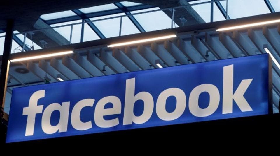 "The Facebook logo is seen at an event in Paris. UK-based Cambridge Analytica is accused of harvesting millions of Facebook users' data for Donald Trump's presidential campaign. India warned Facebook of ""strong action"" if they attempt to influence the country's electoral process."
