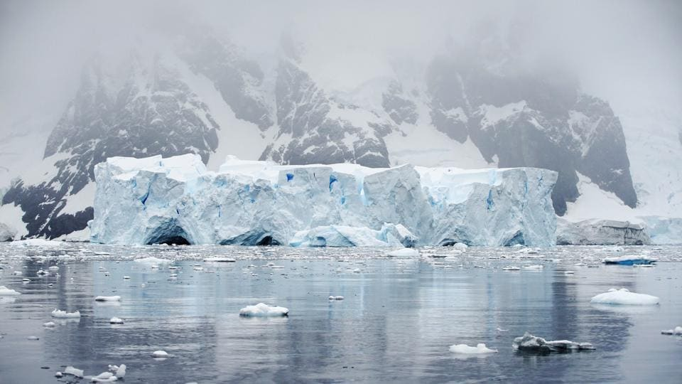 An iceberg floats in Andvord Bay, Antarctica. The strategy involved documenting the effects of climate change, pollution and fishing on native wildlife. Pictures and video footage, specimen samples from the Antarctic seafloor, and surface water sampling for microplastics were all collected by Greenpeace to help build the case for the sanctuary. (Alexandre Meneghini / REUTERS)