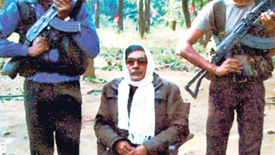 An undated photograph of Maoist leader Arvindji at an undisclosed location.