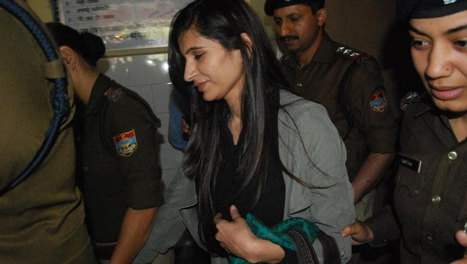 Priya Sharma in the police custody.