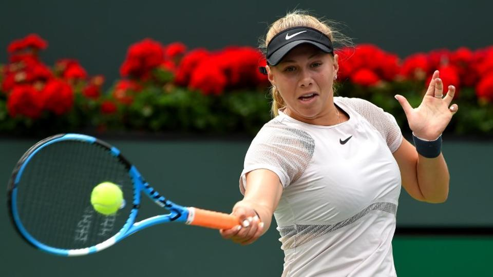 Amanda Anisimova, ranked 130th in the world, will next face Wimbledon champion Garbine Muguruza in the second round of Miami Open.