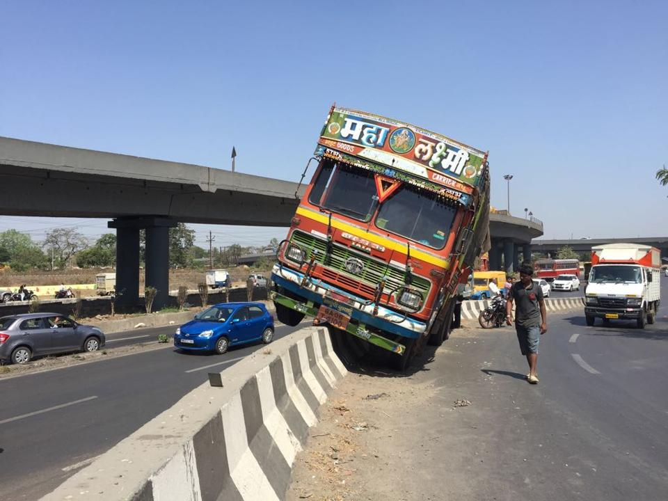 The driver is said to be out of danger.