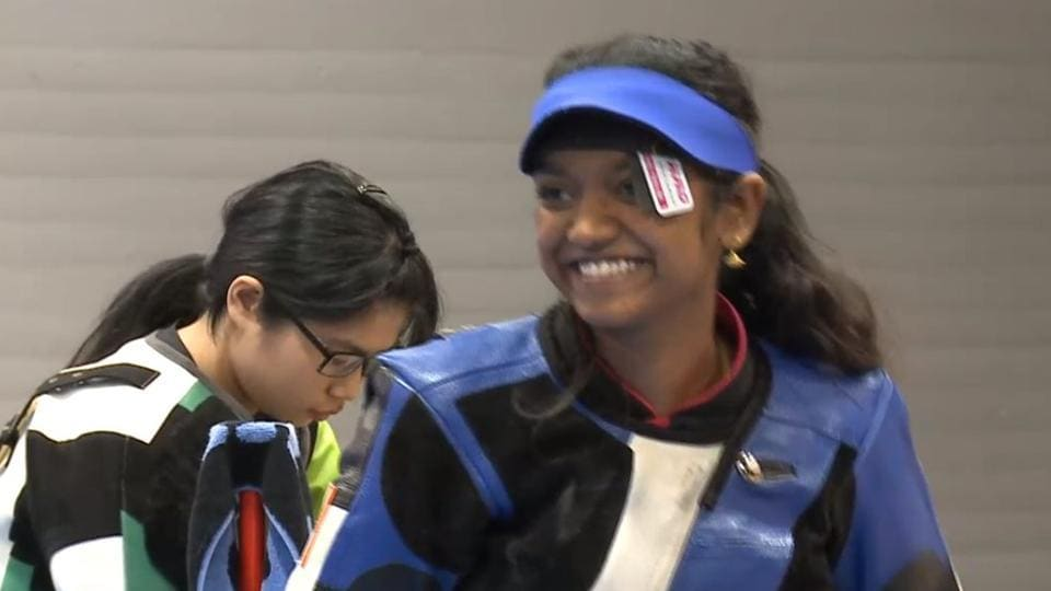 Elavenil Valarivan won the gold medal in the 10m women's air rifle event at the junior ISSF World Cup shooting event.