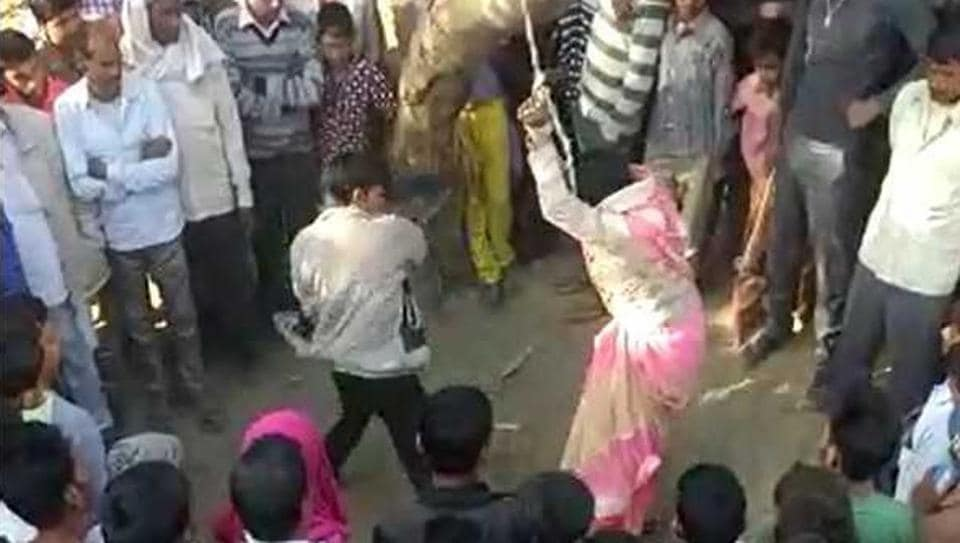 UP woman tied up, thrashed on panchayat's order; molested