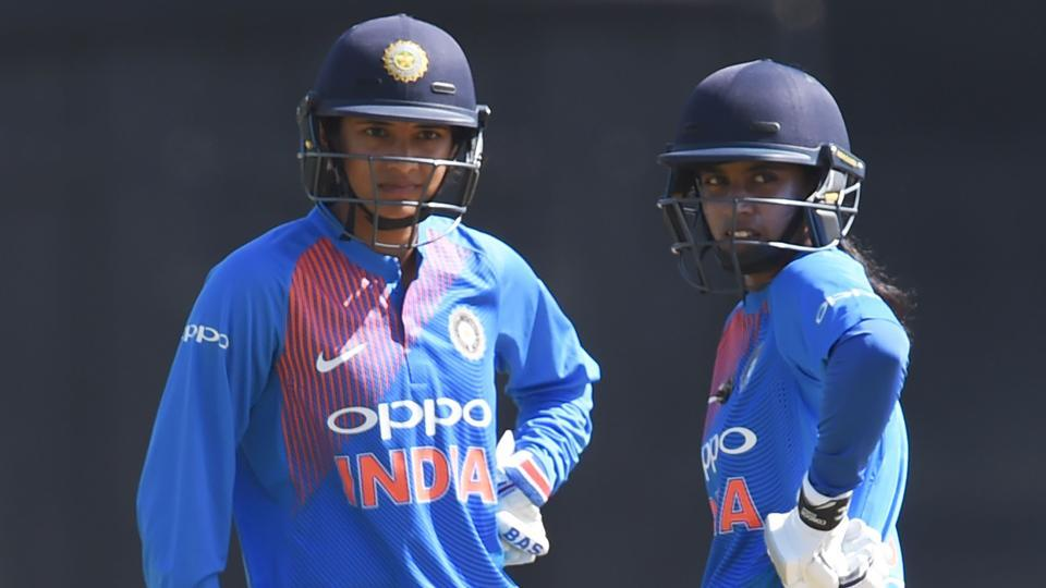 Smriti Mandhana's 67 went in vain as India women lost to Australia women by six wickets in the Twenty20 International tri-series also featuring England.