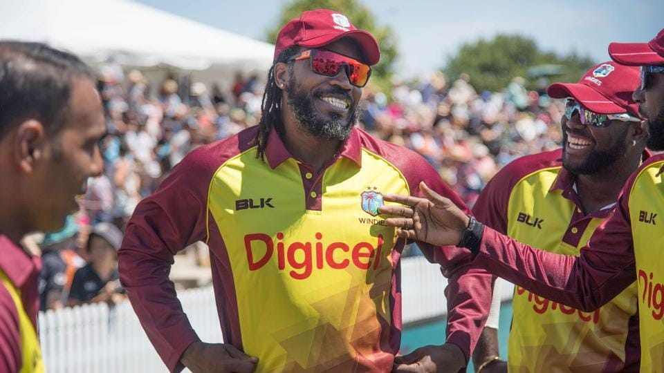 Chris Gayle (C) says he is happy that West Indies cricket team qualified for the 2019 cricket World Cup.