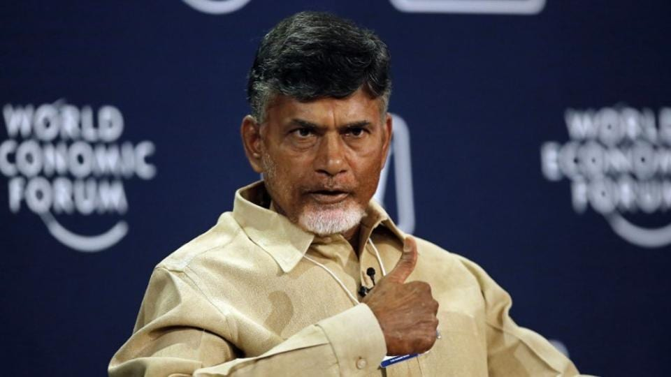 Chandrababu Naidu speaks during the India Economic Summit 2014 at the World Economic Forum in New Delhi.
