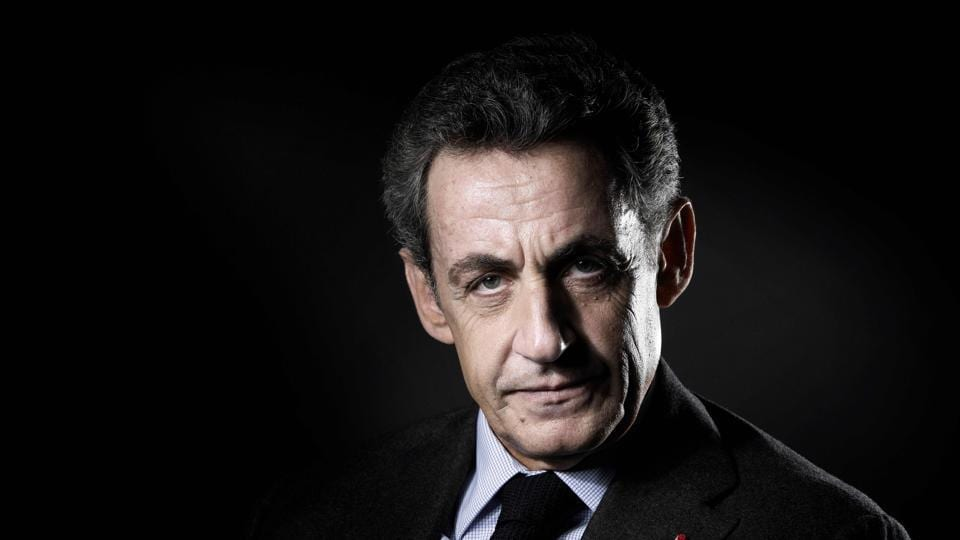 Former French president Nicolas Sarkozy poses for a portrait in Paris on October 18, 2016.