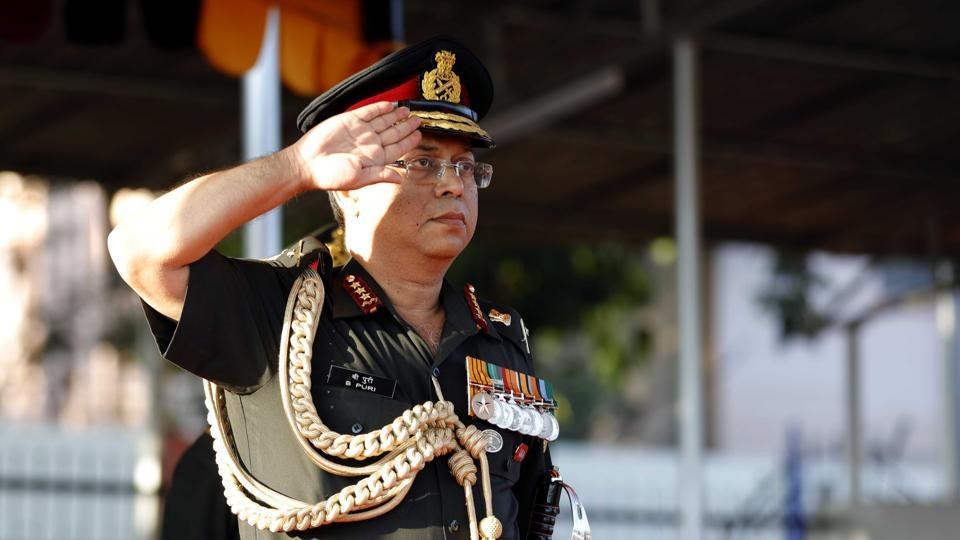 Lt Gen Bipin Puri, director general, Armed Forces Medical Service was the chief guest at the commissioning ceremony. (Rahul Raut/HT PHOTO)
