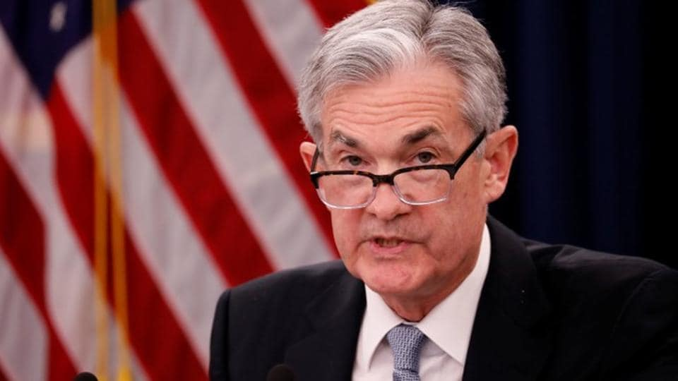 Federal Reserve chairman Jerome Powell speaks at a news conference following the Federal Open Market Committee meetings in Washington, US, on Wednesday.