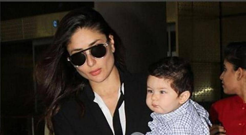 Taimur Ali Khan and his mother Kareena  Kapoor Khan were at Amrita Arora's home when they were clicked.