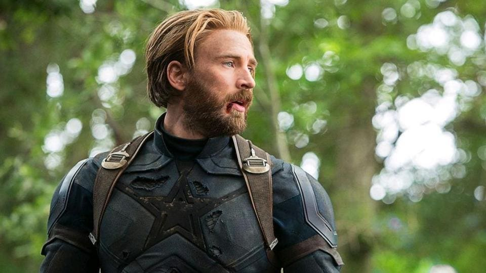 Chris Evans as Captain America in a still from Avengers: Infinity War.