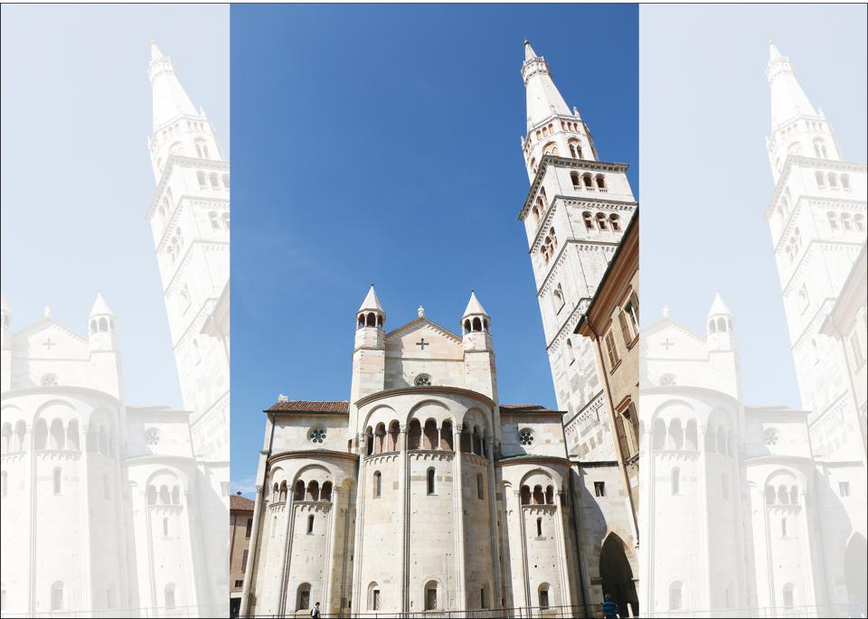 The Cathedral of Modena is considered to be a magnificent example of Romanesque art