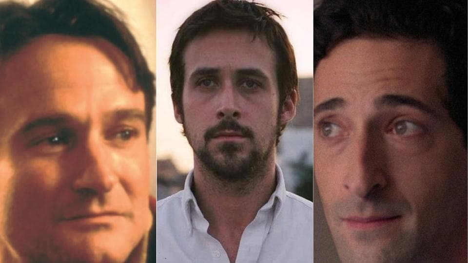 Three wise men: Robin Williams, Ryan Gosling and Adrien Brody.