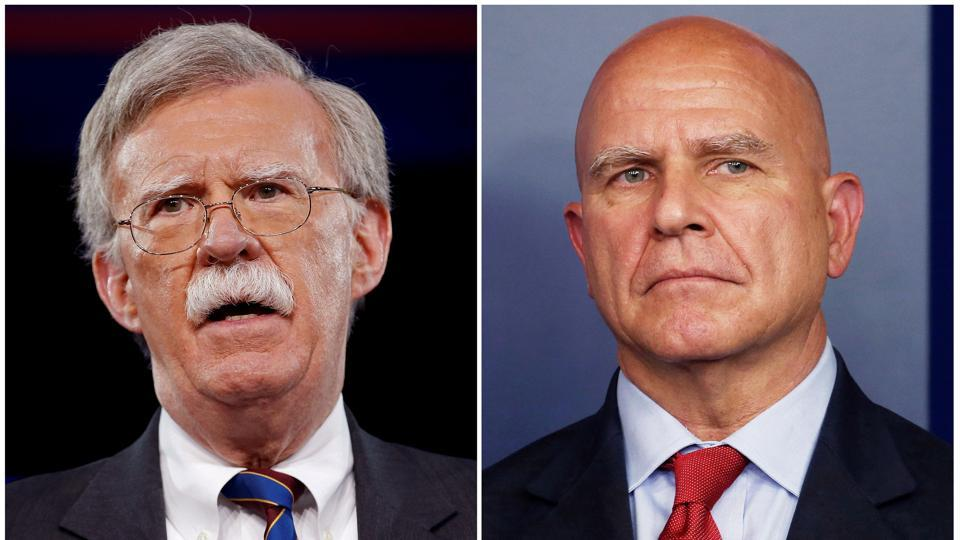 Donald Trump replaces HR McMaster with John Bolton as national security adviser