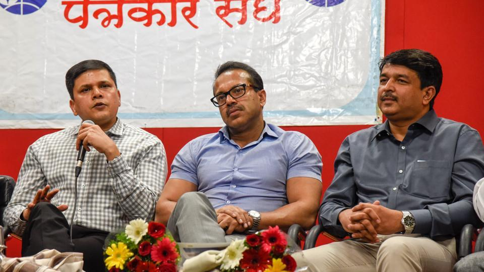 (From left) Saurabh Rao, Kunal Kumar, and Kiran Gitte spoke about the current issues of Pune and the city's way ahead.