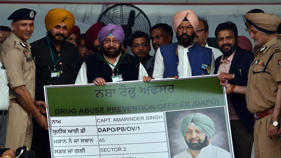 Leading the campaign, Amarinder became the state's first DAPO (Drug Abuse Prevention Officer) , with STF chief Harpreet Singh Sidhu handing over the DAPO Identity Card to him at Khatkar Kalan, the ancestral village of Shaheed-e-Azam Bhagat Singh