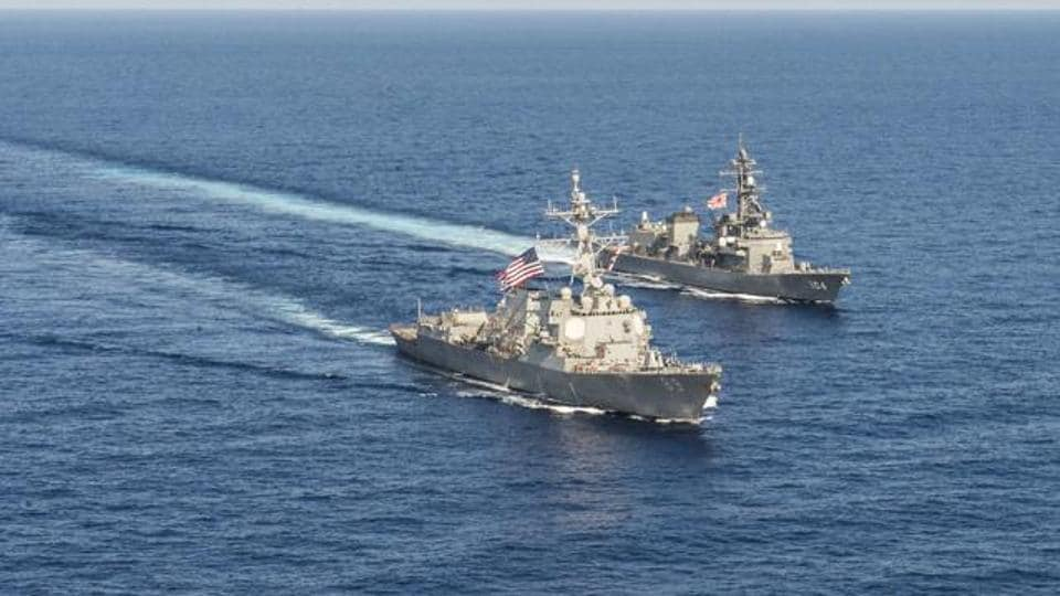 China,US Navy destroyer,South China Sea