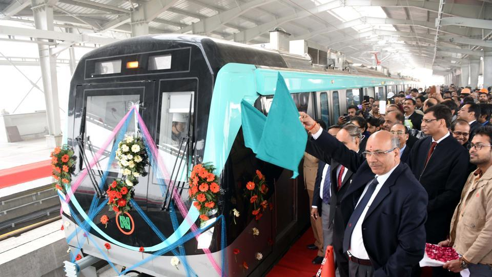 NMRCdecided to start trial run on 10-km stretch between Metro depot at Bodaki and Sector 146  since it received two trains from China on Thursday.