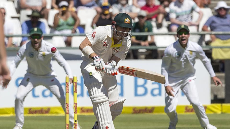 David Warner was bowled by Kagiso Rabada and he exchanged verbals with a fan, who sarcastically applauded his dismissal.