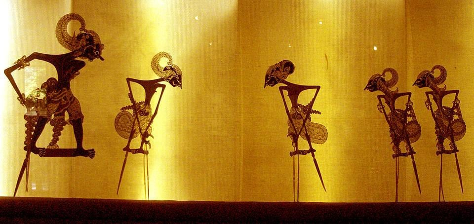 How stories unite us: The Pandavas depicted as shadow puppets at an Indonesian museum.