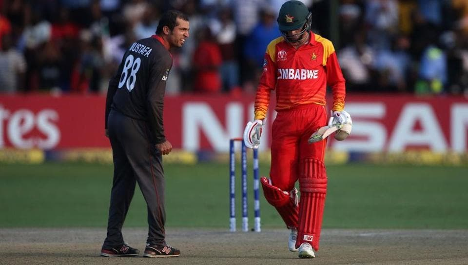 Rohan Mustafa and Sean Williams were fined 15 percent of their match fees for breaching Level 1 of the ICC Code of Conduct during their Thursday's Super Six match in the ICC Cricket World Cup Qualifier 2018