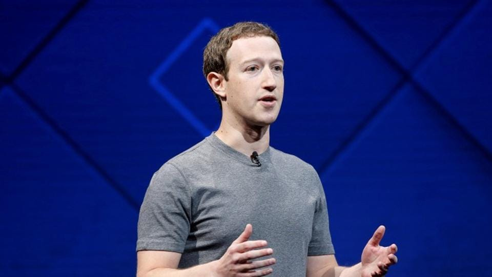 Mark Zuckerberg speaks on stage during the annual Facebook F8 developers conference in San Jose.