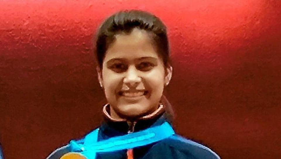 Manu Bhaker won the gold medal in the women's 10m air pistol event at the ISSF Junior World Cup in Sydney on Saturday.