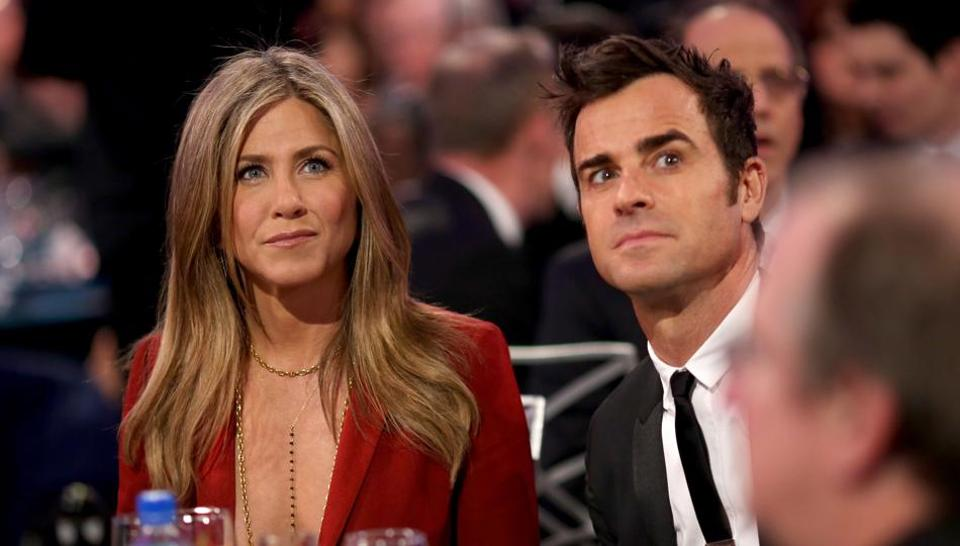 (File photo) Jennifer Aniston and Justin Theroux, who shared a mansion in the upscale Bel Air neighbourhood of Los Angeles, met on the set of the 2008 film Tropic Thunder in Hawaii, and started dating in 2011.
