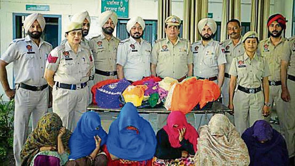 ludhiana,women gang,arrested