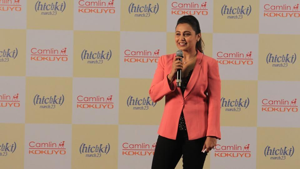 Rani Mukerji at the Hichki Teachers Awards in Mumbai on Feb 24, 2018.