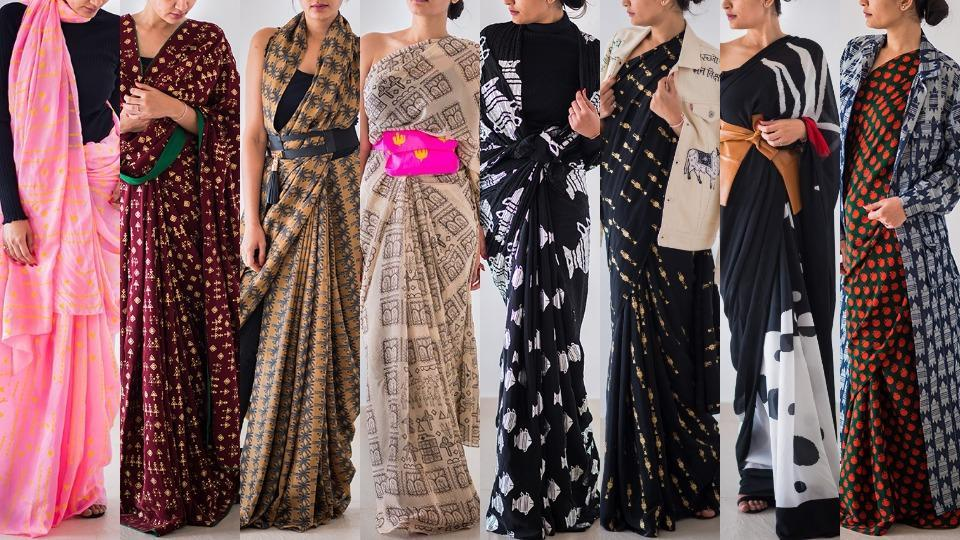 Designer Masaba Gupta's alternative ways to rock a saree are perfect for a girl who wants to have fun. (All Photos: House of Masaba)