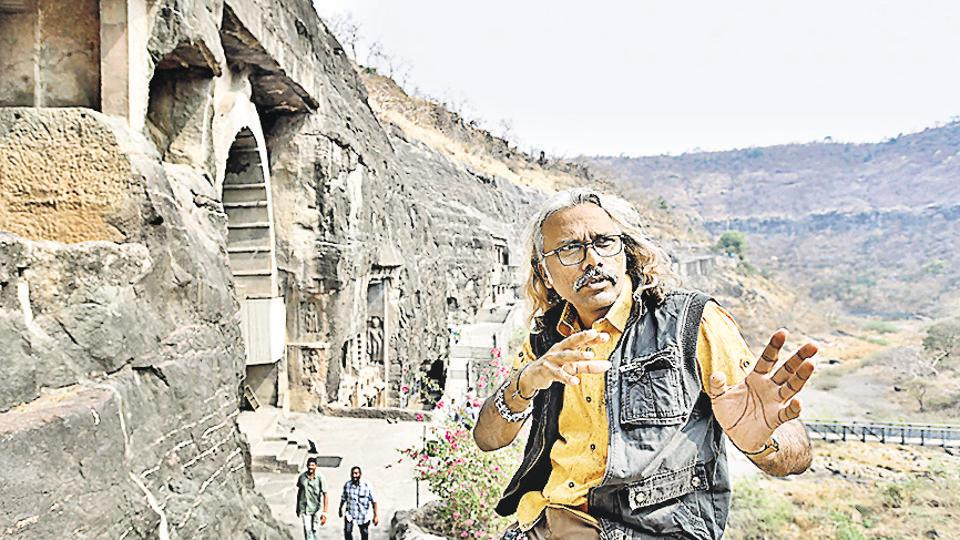 Prasad Pawar is an artist-sculptor and research photographer at the Ajanta Caves, a world heritage site located 5km northeast of Aurangabad in Maharashtra.