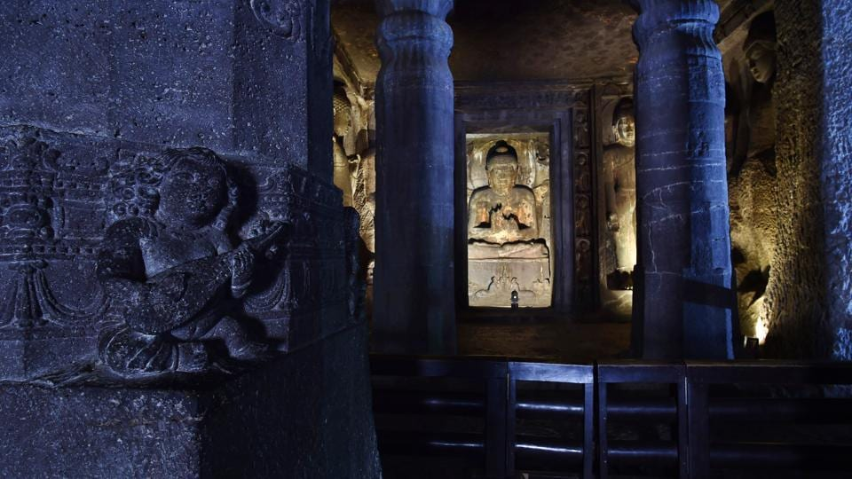 Centuries of environmental pressures and human activity raise fears that the Ajanta murals may not last long. But Pawar hopes to create a museum that shows this ancient Indian art to the world and has found interest with the Indira Gandhi National Centre for the Arts which is exploring his digital conservation techniques to document other ancient monuments in the country. (Ajay Aggarwal / HT Photo)
