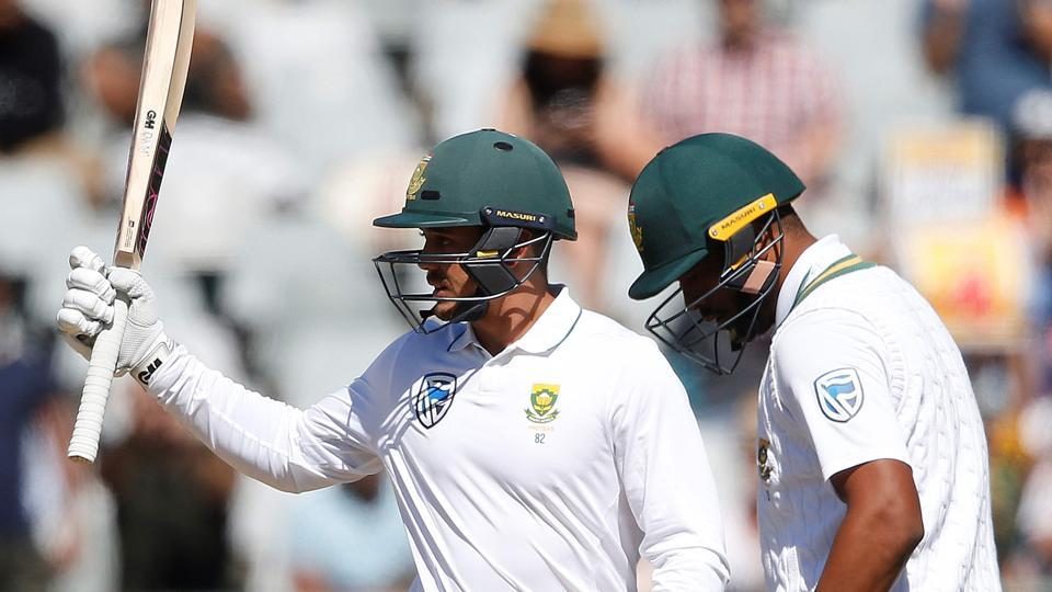 Quinton de Kock and Vernon Philander hit fifties as South Africa set Australia a target of 430 to win.  (AFP)