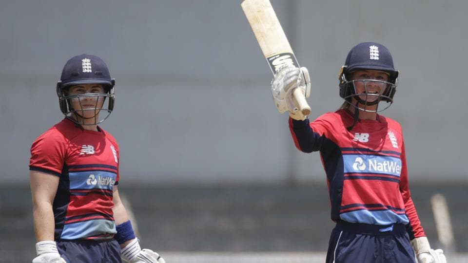 Danielle Wyatt became the second player after Deandra Dottin to score two hundreds in a women's Twenty20 International as her 124 helped England beat India by six wickets.