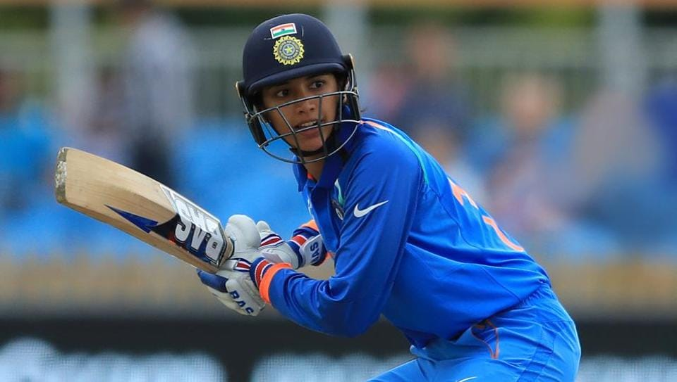 Smriti Mandhana's fifty took India to 198/4 against England in their T20 clash on Sunday.