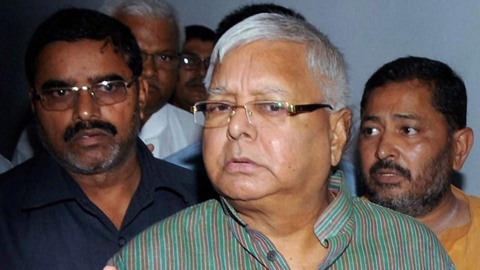 RJD Chief and former Bihar Chief Minister Lalu Prasad Yadav arrives to appear before the special CBI Court in connection with a multi-crore fodder scam case, in Ranchi.