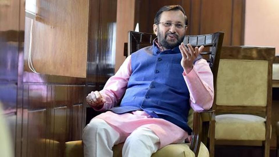 Minister of Human Resource Development Prakash Javadekar.