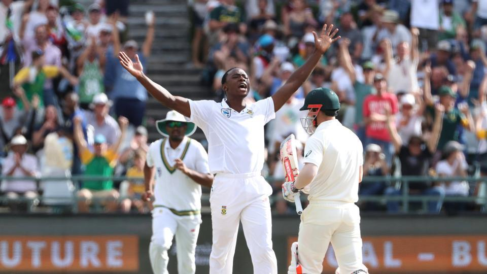 Warner soon followed as Kagiso Rabada again took his wicket.  (REUTERS)