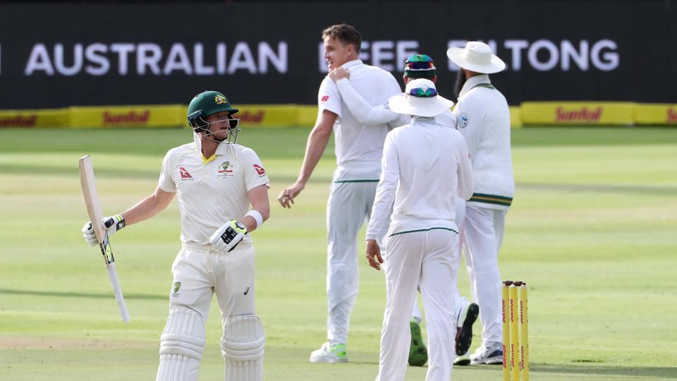 Morkel then removed Smith to leave Australia in all sorts of trouble.  (REUTERS)