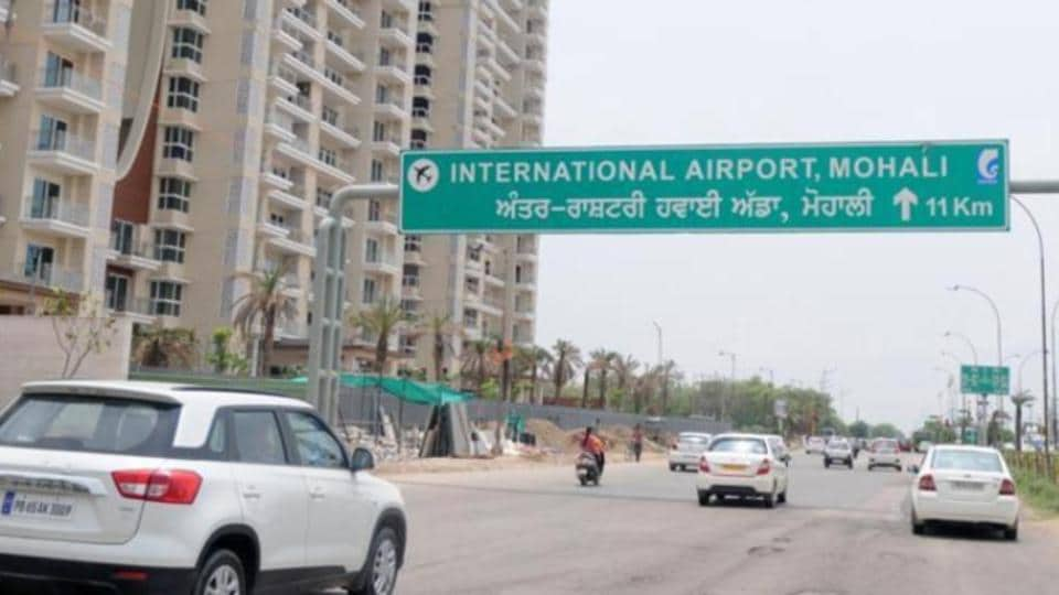 Chandigarh airport,acquisitions of Mohali village,airport expansion