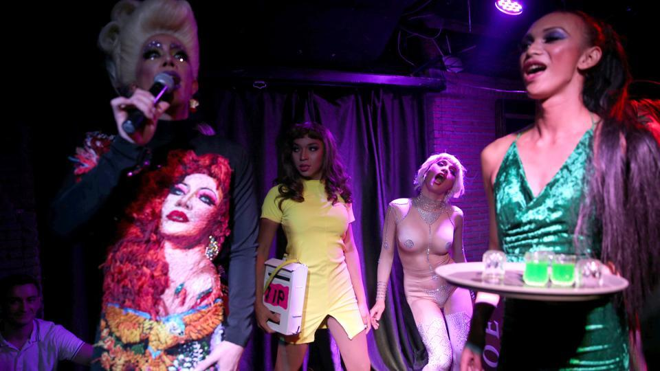 "Drag queens perform at a club in Bangkok. ""Thailand's drag scene is new and fresh because drag is a form of Western culture, but Thai people are really interested in it,"" Pan Pan said. A largely conservative Buddhist society, Thailand has nonetheless built a reputation as a place with a relaxed approach towards gender and sexual diversity.  (Athit Perawongmetha / REUTERS)"